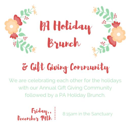 PA Holiday Brunch December 14, 2018