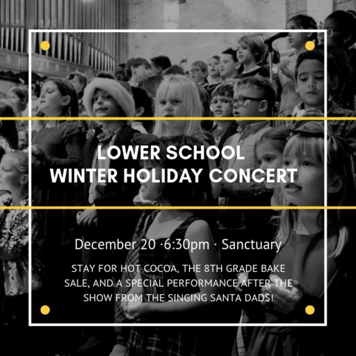 Lower School Winter Concert (& Singing Santas!) Dec 20, 2018