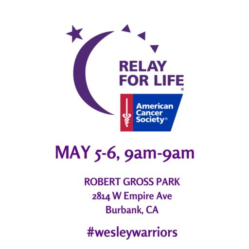 Relay For Life May 5-6, 2018