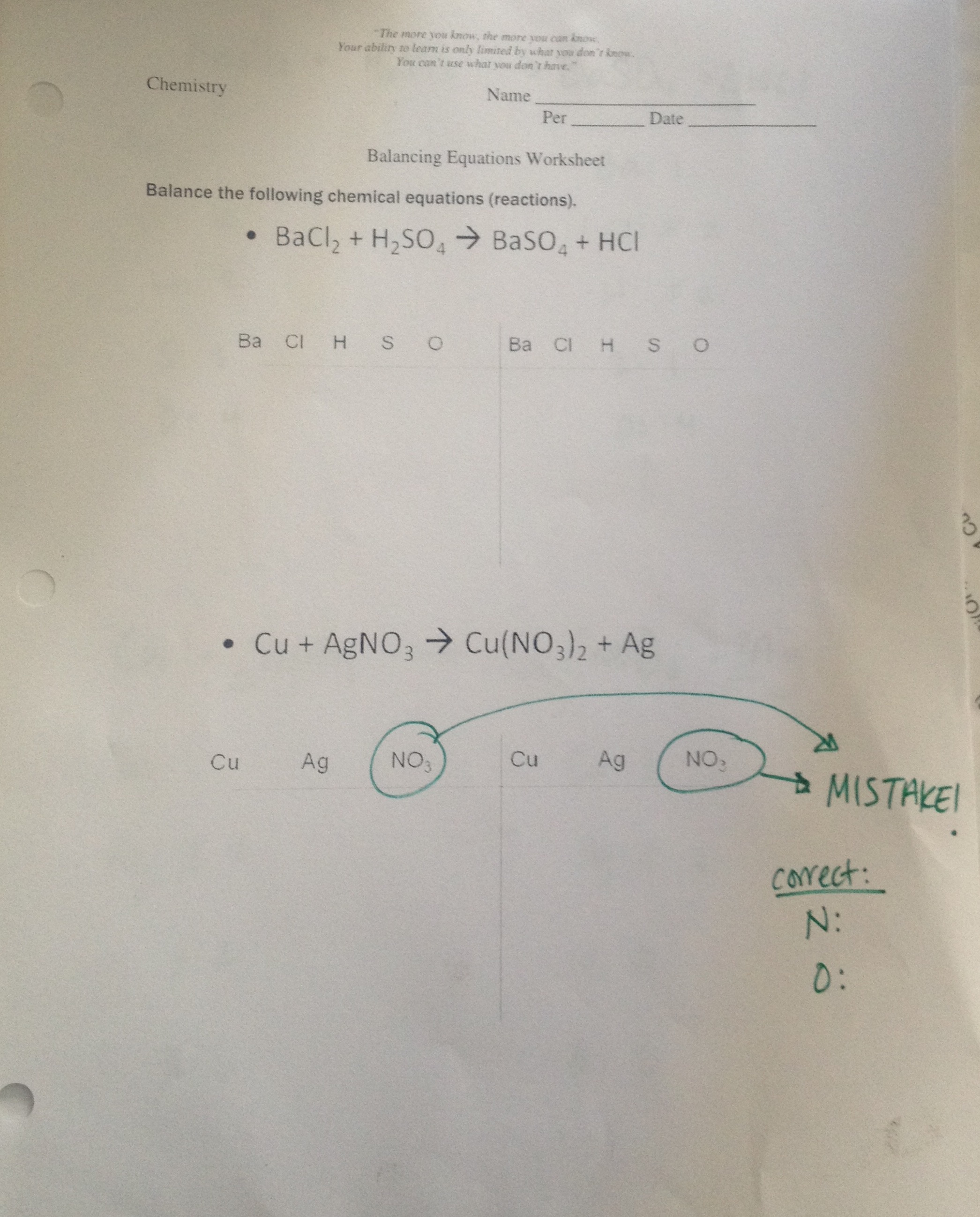 Fifth Grade Algebra Worksheets Pdf Physics  Chemistry  Lesson Plans  The Wesley School Parts Of Speech Quiz Worksheet with Early Algebra Worksheets Excel Class Reviewed  Specific Problems From The Balancing Reactions Packet  Last Page Ox Cart Man Worksheets Word
