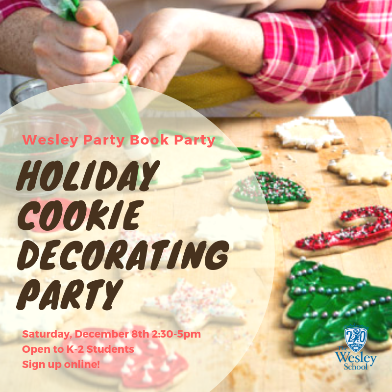 holiday cookie decorating party the wesley school